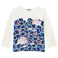 Kenzo White Cloud Multi Tiger Print Long Sleeve Tee 11
