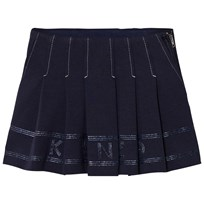 Kenzo Navy Pleated Logo Skirt 49