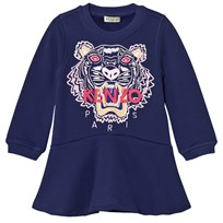 Kenzo Purple Embroidered Tiger Sweat Dress 449