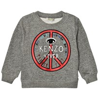 Kenzo Dark Grey Marl Logo Peace Sign Sweatshirt 28