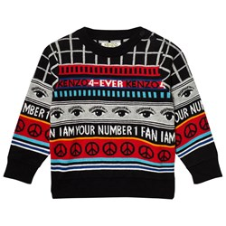 Kenzo Black Logo Knit All Over Sweater
