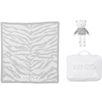 Kenzo Grey Tiger Blanket and Bear Gift Set 210