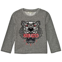 Kenzo Dark Grey Marl Embroidered Tiger Print Tee 28