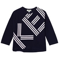 Kenzo Navy Branded Long Sleeve Tee 49
