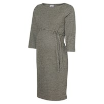 Mamalicious Jersey Tartan Dress Grey Black
