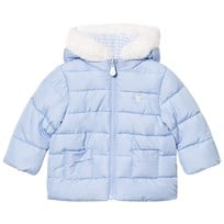 Mayoral Blue Padded Reversible Coat with Faux Fur Lined Hood 92