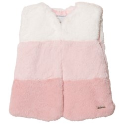 Mayoral Pink Ombre Faux Fur Gilet