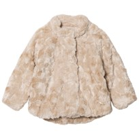 Mayoral Beige Textured Faux Fur Coat 74