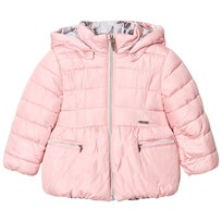 Mayoral Pink Reversible into Floral Hooded Coat 43