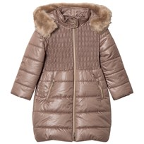 Mayoral Mink Long Line Padded Hooded Coat 59