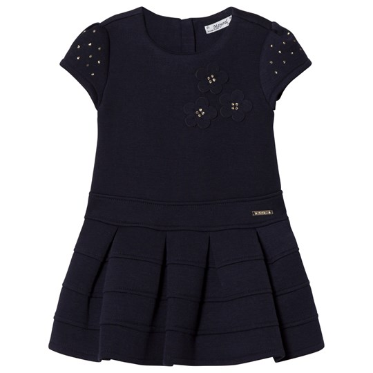 Mayoral Navy Flower Applique Milano Dress 31