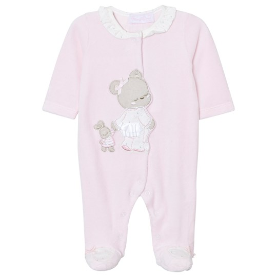 Mayoral Pink Little Bear Velour Footed Baby Body 55