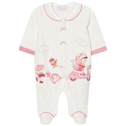 Mayoral Cream Little Bear Velour Footed Baby Body
