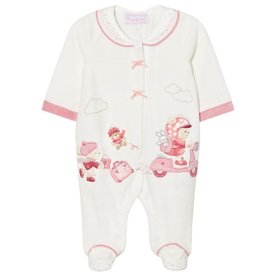 Mayoral Cream Little Bear Velour Footed Baby Body 51