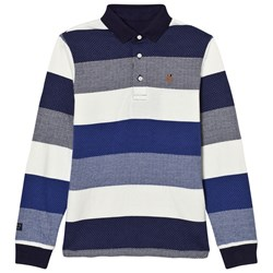Mayoral Navy and White Stripe Polo