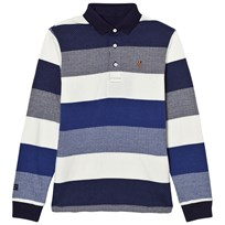 Mayoral Navy and White Stripe Polo 94
