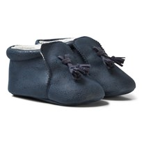 Mayoral Navy Faux Leather Tassel Booties 29