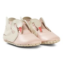 Stella McCartney Kids Pale Pink Swan Crib Shoes 5769