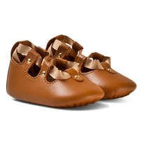 Chloé Tan Lace Up Crib Shoes 320