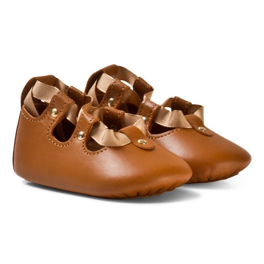 Chloé Lace Up Baby Skor Tan 320