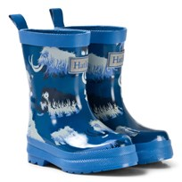 Hatley Wooly Mammoth Classic Rain Boots Blue