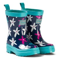 Hatley Graphic Flowers Classic Rain Boots Navy