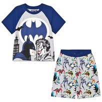 Fabric Flavours Grey/Blue Batman Joker Pyjamas Grey & Blue