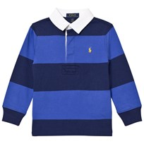 Ralph Lauren Striped Long Sleeve Rugby Shirt Barclay Blue Multi 003