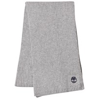 Timberland Grey Branded Knit Scarf A32