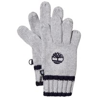 Timberland Grey Knit Branded Gloves A32