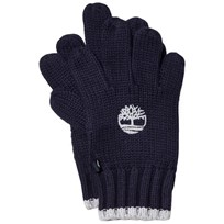 Timberland Navy Knit Branded Gloves 85T