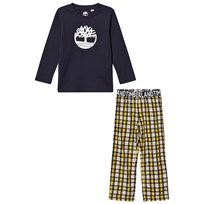 Timberland Navy/Yellow Check Branded Pyjamas 566