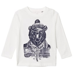Timberland White Mountain Bear Print Tee