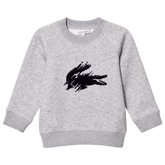 Lacoste Grey Marl Flocked Croc Sweatshirt CCA