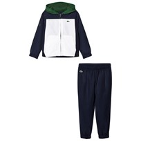 Lacoste Blue, White and Lime Fleece Tracksuit BUG
