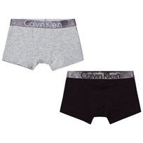 Calvin Klein 2 Pack of Black and Grey Branded Trunks 034