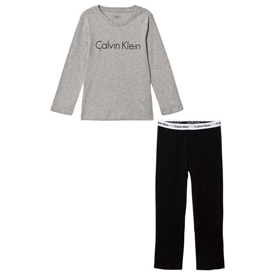 Calvin Klein Grey/Black Modern Cotton Branded Pyjamas 044