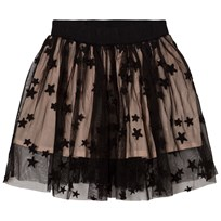 Stella McCartney Kids Black Tulle Misty Skirt with Embroidered Stars 1073