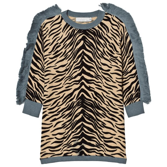 Stella McCartney Kids Rita Tiger Stickad Klänning Beige 2670