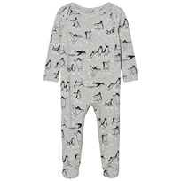 Stella McCartney Kids Grey Penguin Footed Baby Body 1450