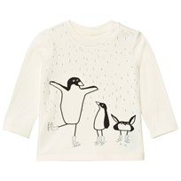 Stella McCartney Kids White Dancing Penguin Print Georgie Tee 9232