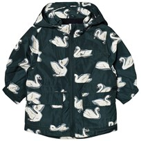 Stella McCartney Kids Navy Swan Print Beck Parka 3066