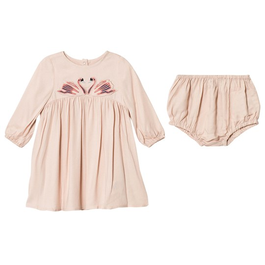 Stella McCartney Kids Pink Swan Print Leonilla Dress 5769