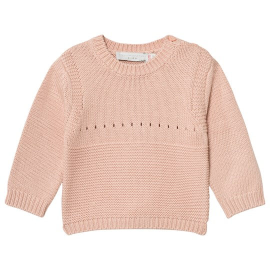 Stella McCartney Kids Thumper Stickad Bunny Tröja Rosa 5768