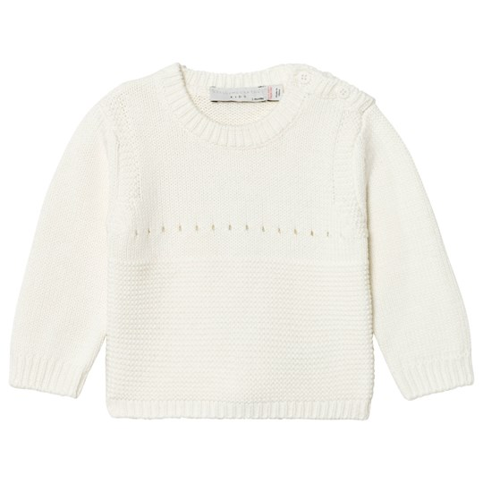 Stella McCartney Kids Thumper Stickad Bunny Tröja Cream 9232
