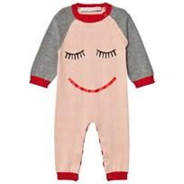 Stella McCartney Kids Pink Face Knit Tommy Footless Babygrow 5769