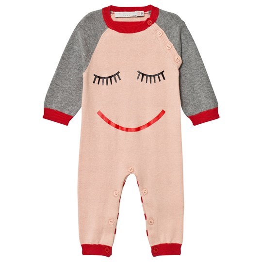 Stella McCartney Kids Pink Face Knit Tommy One-Piece 5769
