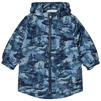 Stella McCartney Kids Blue Beck Pink Landscape Parka 4261