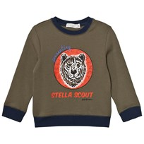 Stella McCartney Kids Bear Print Tröja Olive 2471