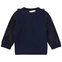Stella McCartney Kids Apollo Stickad Tröja Marinblå 4100